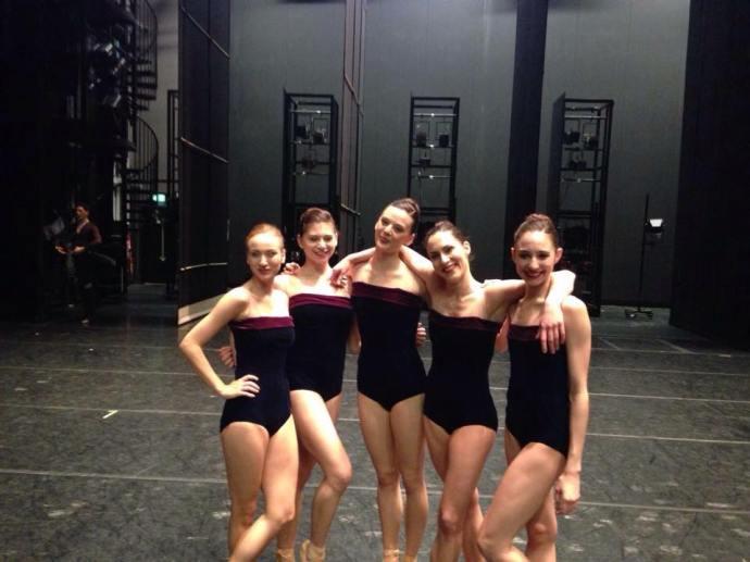 Beila Ungar and Royal Danish Ballet dancers backstage for Liam Scarlett's Viscera.