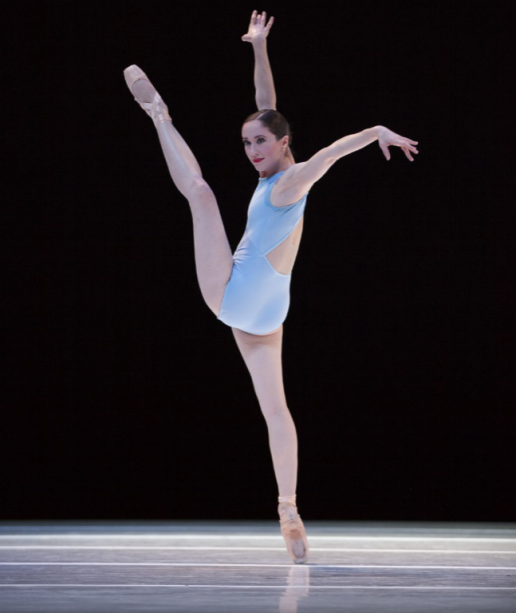 """Sarah Orza in """"A Million Kisses to My Skin."""" Photo by Angela Sterling; choreography by David Dawson."""