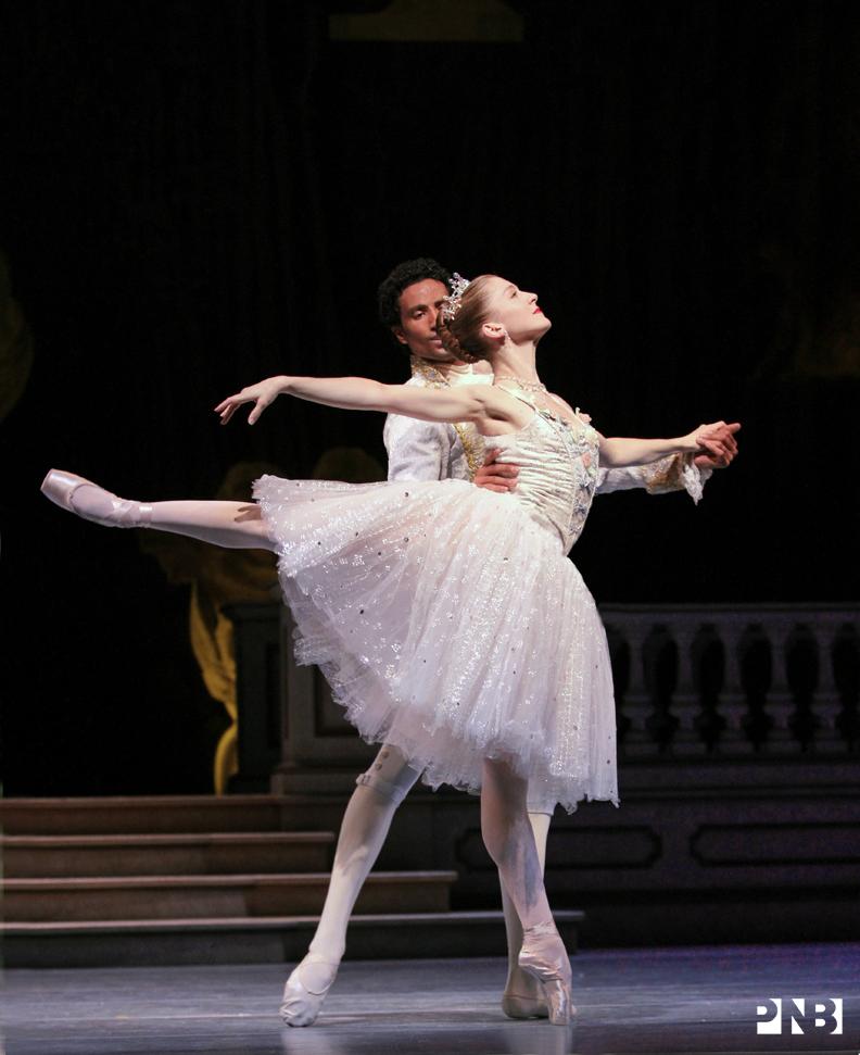 PNB Principal Dancers Carla Korbes and Karel Cruz in Kent Stowell's Cinderella. © Lindsay Thomas