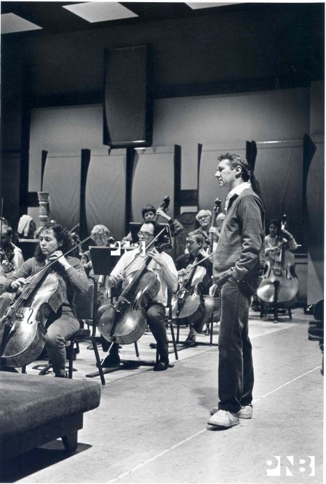 Kent Stowell with the PNB Orchestra. © PNB Archives