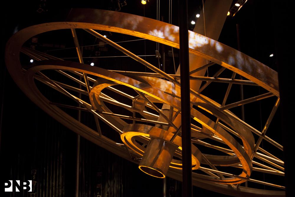 Carmina Burana's golden wheel of Fortune. © Angela Sterling