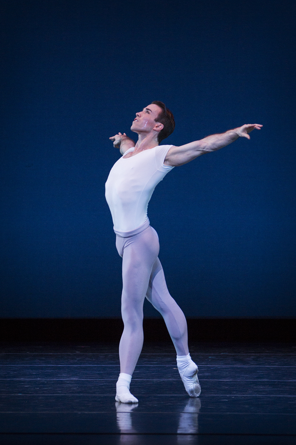 """Benjamin Griffiths in Balanchine's """"Square Dance."""" Photo by Lindsay Thomas."""