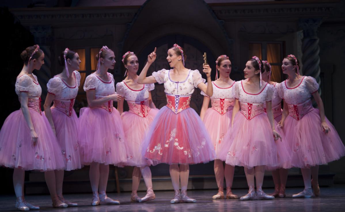 "Swanilda & her friends in George Balanchine's ""Coppélia."" Photo by Angela Sterling."