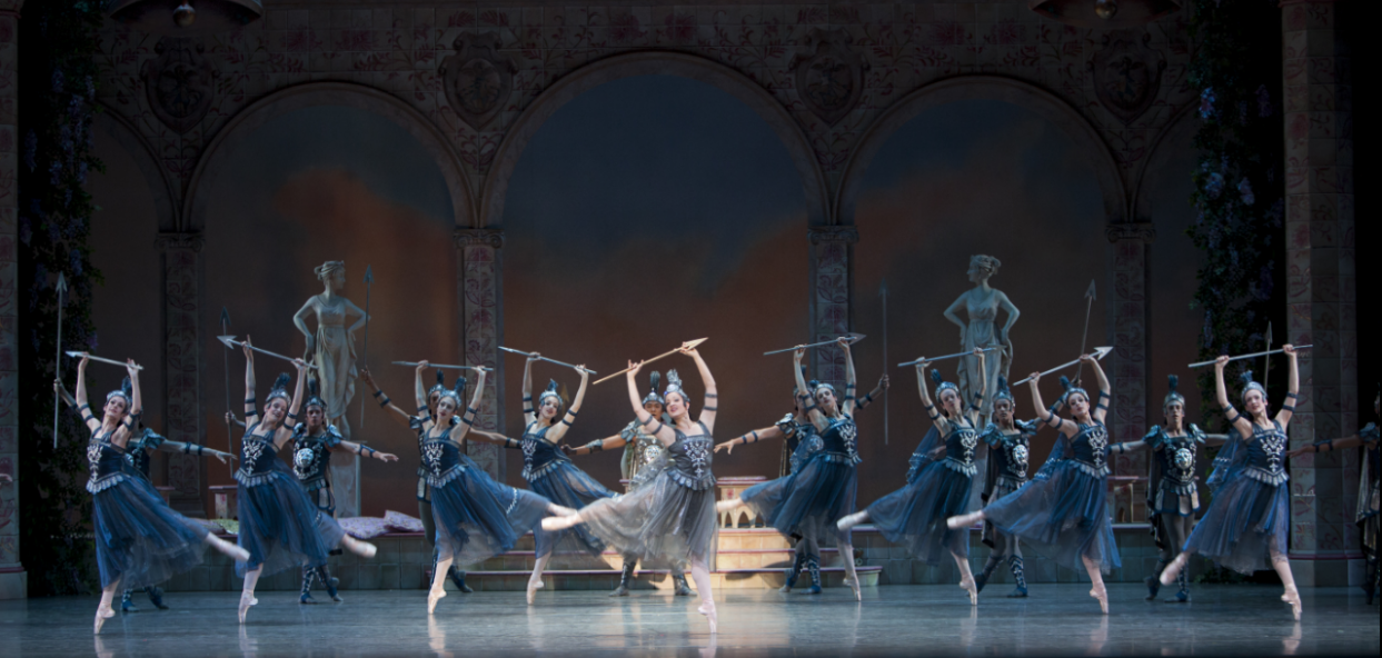 """Discord & War in George Balanchine's """"Coppélia."""" Photo by Angela Sterling."""