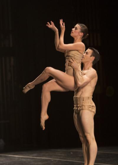 "Carli Samuelson in ""Petit Mort."" Photo by Angela Sterling; choreography by Jiri Kylian."