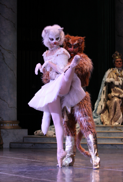 """Carli Samuelson as Puss in Boots in """"Sleeping Beauty."""" Photo by Angela Sterling."""