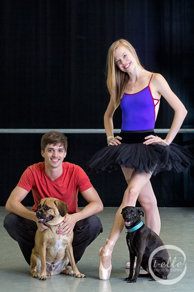 Price Suddarth and Emma Love Suddarth with their dogs Op and Zuzu