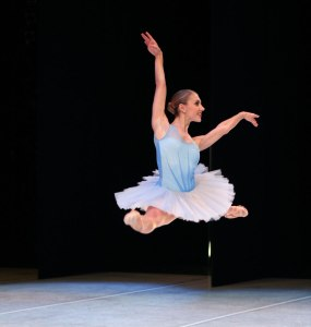 "Jessika Anspach in ""Sum Stravinsky."" Photo by Angela Sterling; choreography by Kiyon Gaines."