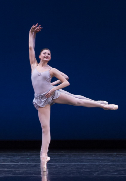 """Nancy Casciano in George Balanchine's """"Sqaure Dance."""" Photo by Linsday Thomas."""
