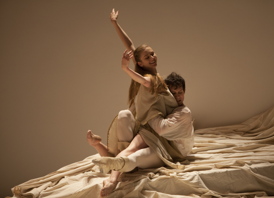 """Carla and Seth Orza in """"Romeo et Juliette."""" Photo by Angela Sterling; choreography by Jean-Christophe Maillot."""