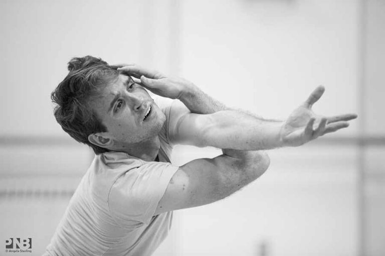 """Matthew Renko in """"Prodigal Son."""" Photo by Angela Sterling; choreography by George Balanchine."""