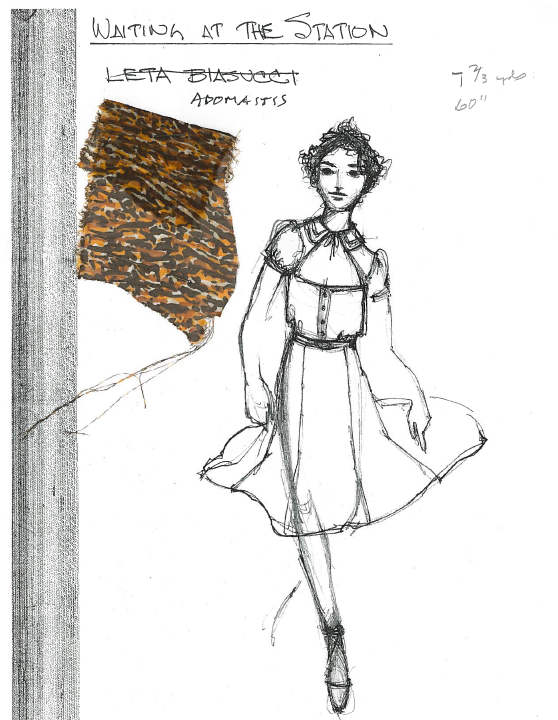 """Adomaitis"" sketch by Designer, Santo Loquasto for Twyla Tharps' Waiting At The Station. Photo © Lindsay Thomas."
