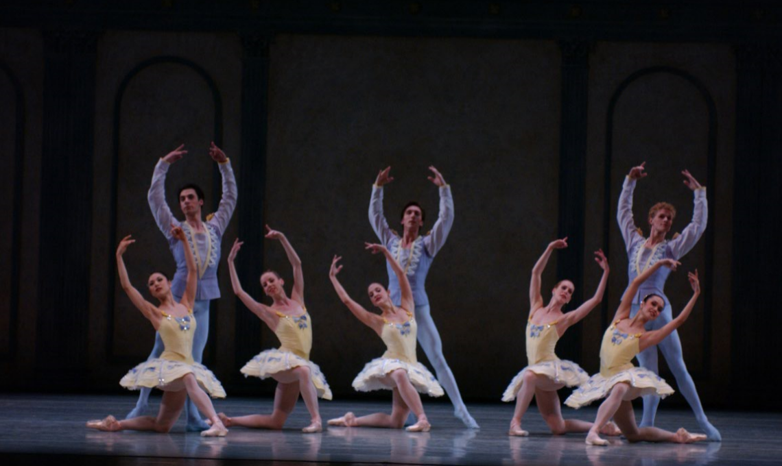 PNB dancers in George Balanchine's Divertimento #15. Photo by Angela Sterling.