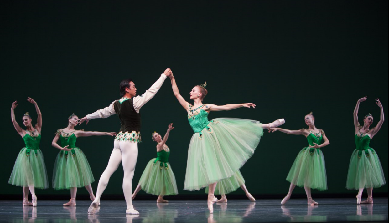 Willian Lin-Yee and Elizabeth Murphy in George Balanchine's Emeralds. Photo by Angela Sterling.