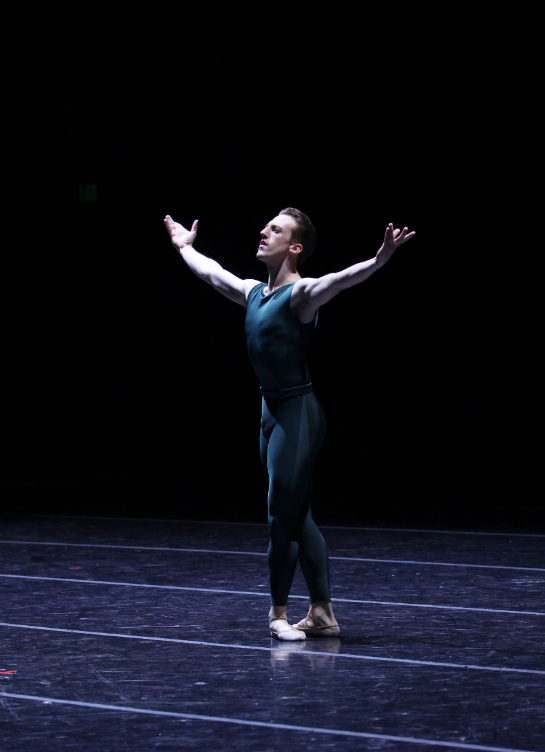 Ezra Thomson in In The Middle, Somewhat Elevated. Photo by Lindsay Thomas; choreography by William Forsythe.