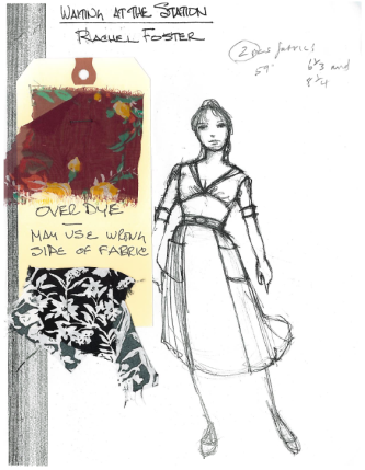 """Foster"" sketch by Designer, Santo Loquasto for Twyla Tharps' Waiting At The Station. Photo © Lindsay Thomas."