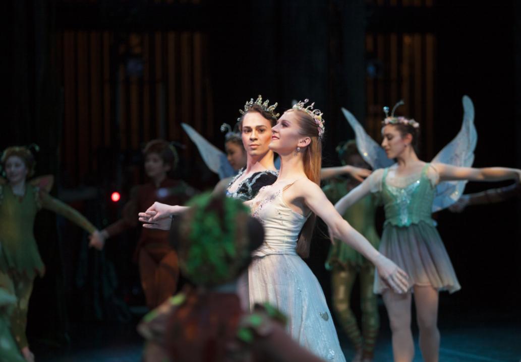 Kyle Davis and Carla Körbes in George Balanchine's A Midsummer Night's Dream. (c) Angela Sterling.