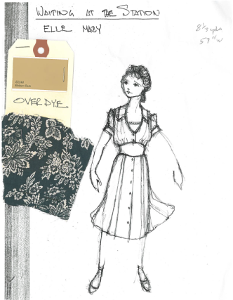 """Macy"" sketch by Designer, Santo Loquasto for Twyla Tharps' Waiting At The Station. Photo © Lindsay Thomas."