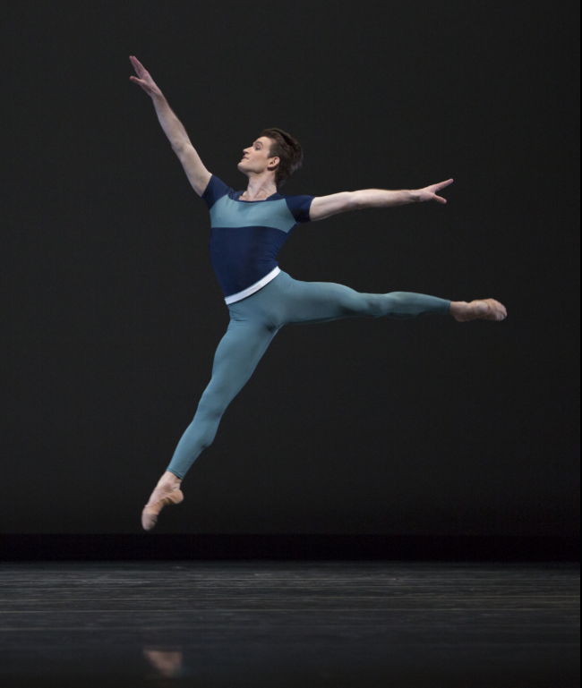 """Matthew Renko in """"Year of the Rabbit."""" Photo by Angela Sterling; choreography by Justin Peck."""