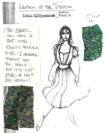 """Pasch"" sketch by Designer, Santo Loquasto for Twyla Tharps' Waiting At The Station. Photo © Lindsay Thomas."