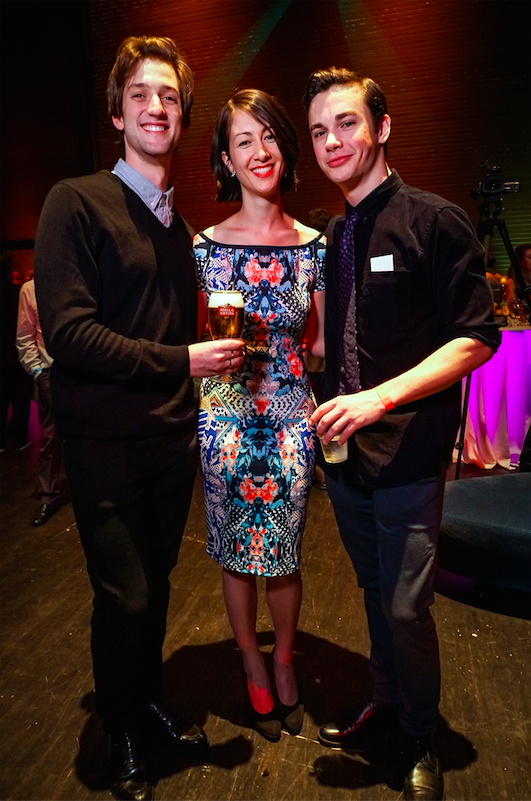 Miles Pertl, Lindsay Thomas and Henry Cotton at Backstage Bash 2016. Photo by Alan Alabastro Photography.