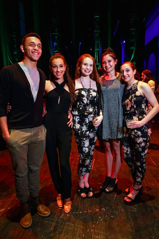 Dammiel Cruz, Angeli Mamon, Madison Sugg, Nancy Casciano and Nicole Rizzitano at Backstage Bash 2016. Photo by Alan Alabastro Photography.