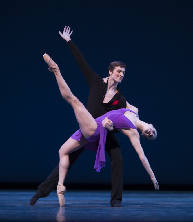 Lesley Rausch and Steven Loch in Susan Stoman's Take Five...More or Less. Photo by Angela Sterling.