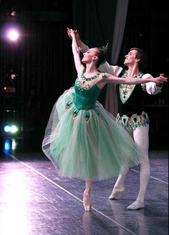 Margaret Mullin and Steven Loch in George Blanchine's Emeralds. Photo by Angela Sterling.