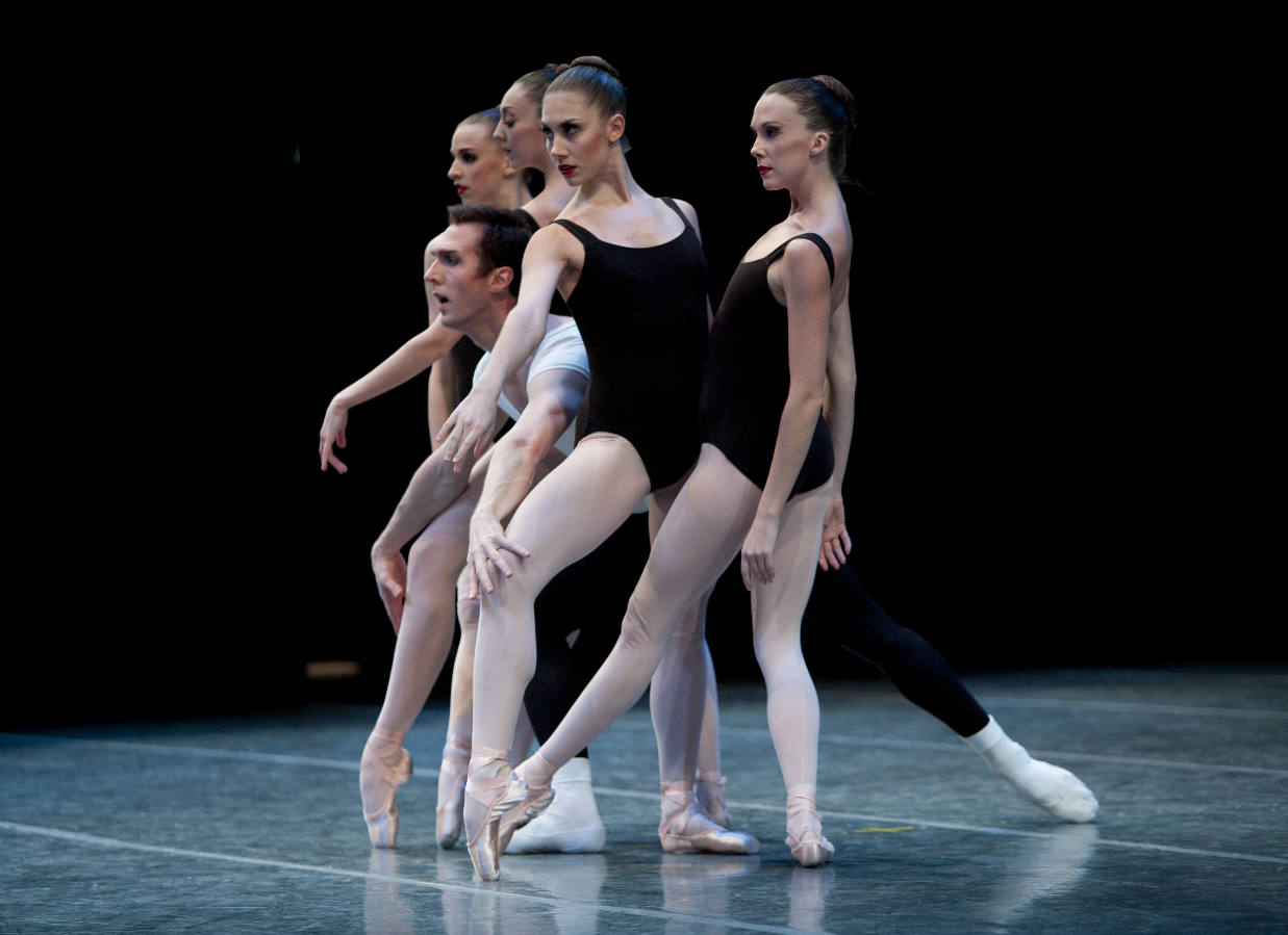 Jessika Anspach and Kylee Kitchens in George Balanchine's The Four Temperaments. (c) Angela Sterling.