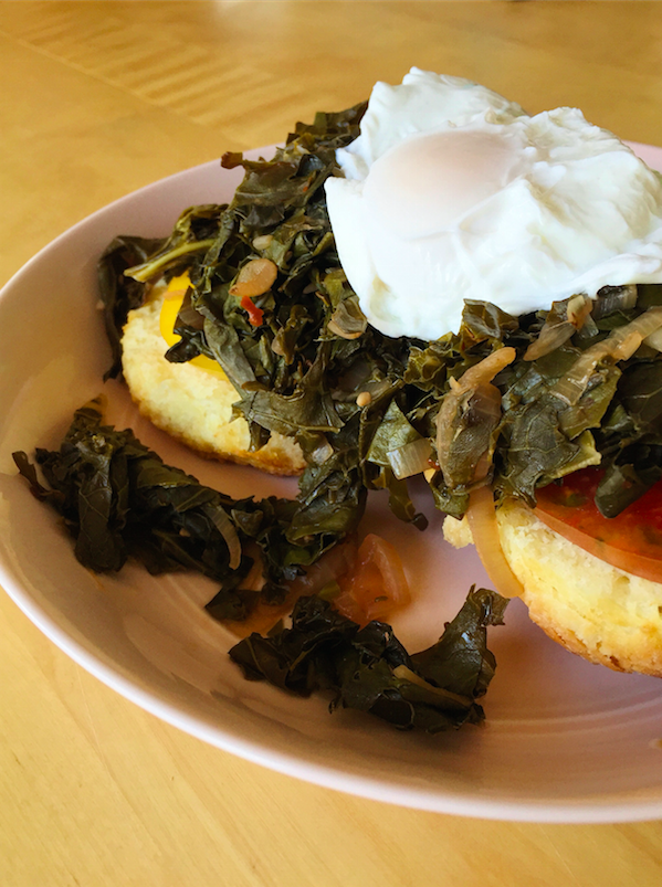 Open-faced Biscuit Sandwich. Photo by Emma Love Suddarth.