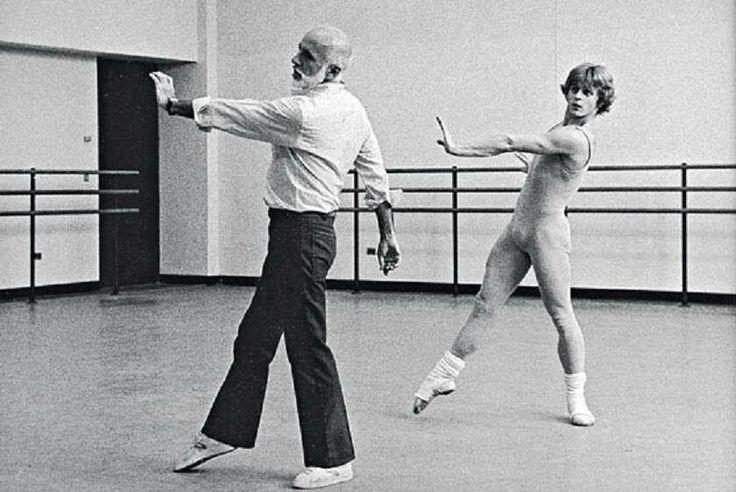 Other Dances - Jerome Robbins rehearsing Mikhail Baryshnikov - photo by Martha Swope