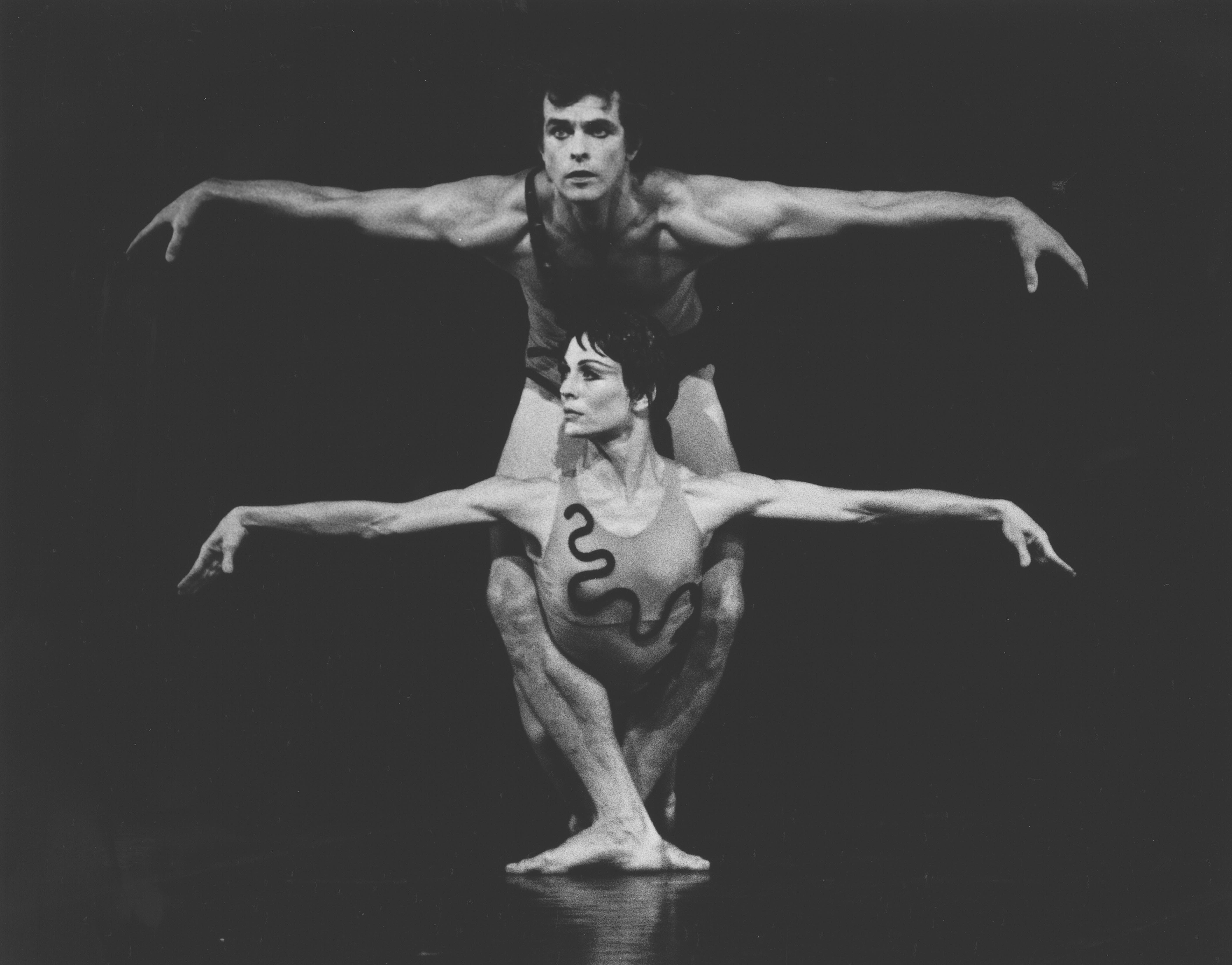 The Cage - PNB - Deborah Hadley, Michael Auer, 1984 - Photo by Ben Kerns