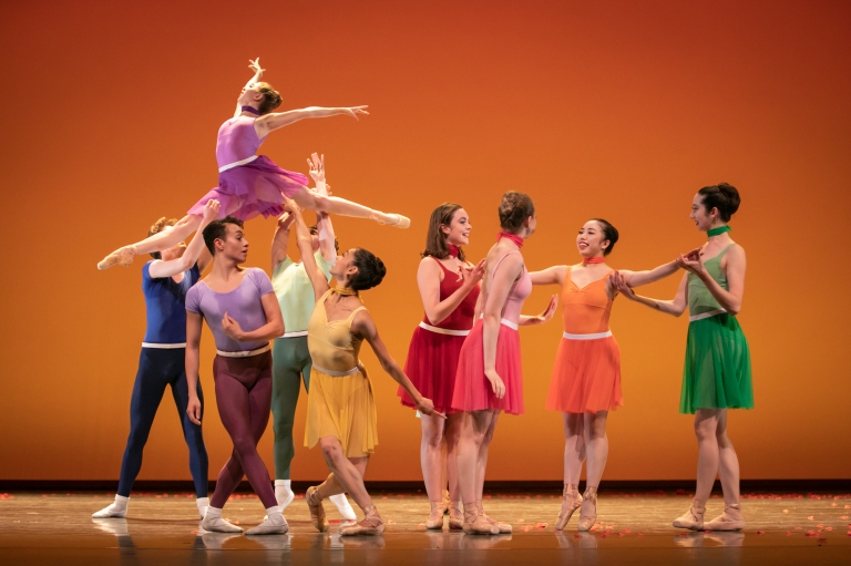 PNB School students dancing in Christopher D'Ariano's Youthquake. Photo © Lindsay Thomas