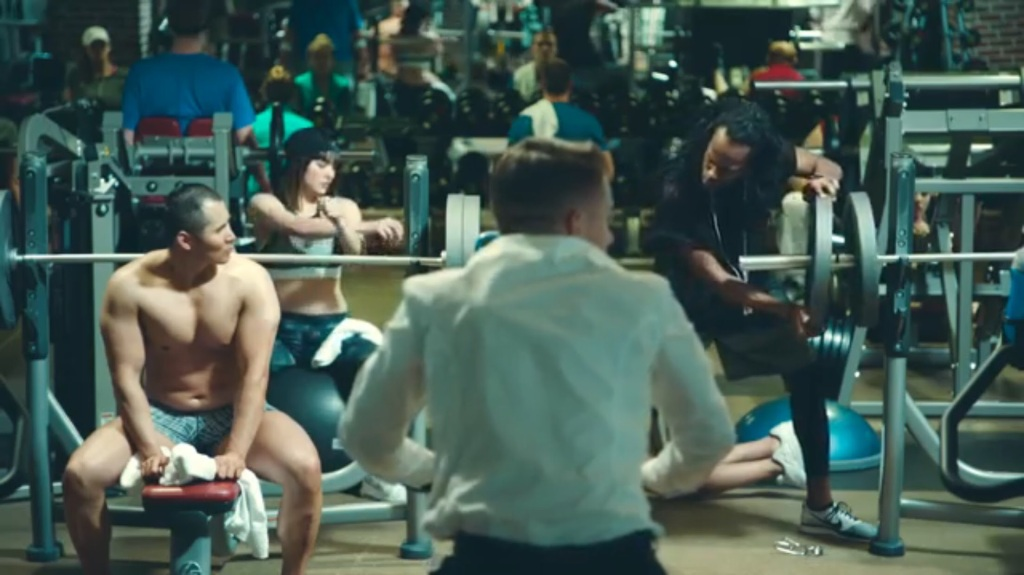 "Ron Gatsby in a still from ""Dance Off"" by Macklemore & Ryan Lewis featuring Idris Elba, directed by Jason Koenig and Ryan Lewis."