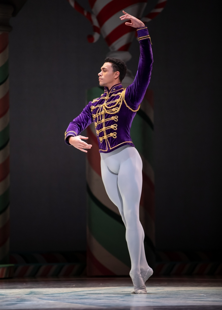 Dammiel Cruz as The Cavalier in George Balanchine's The Nutcracker®. Photo © Lindsay Thomas.