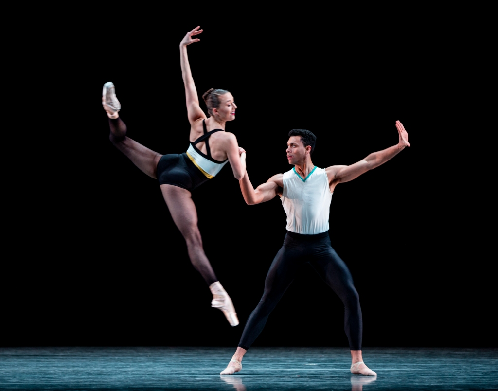 Dammiel Cruz and Cecilia Iliesiu in Justin Peck's In The Countenance of Kings. Photo © Angela Sterling.