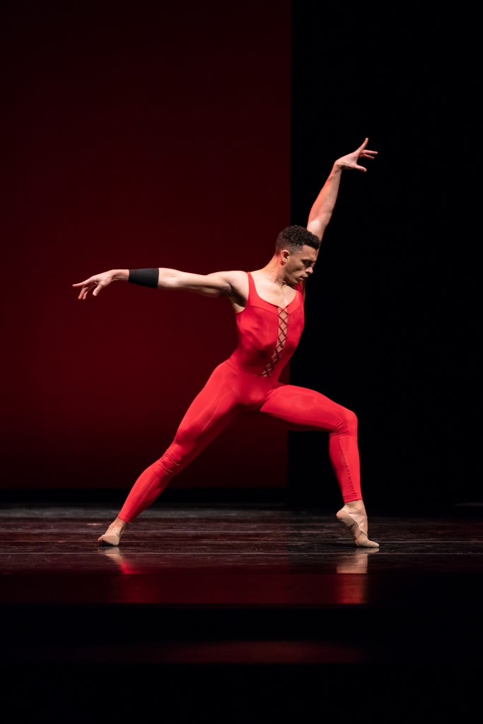 Dammiel Cruz in Ulysses Dove's Red Angels. Photo © Lindsay Thomas.